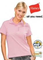 light pink ladies hc polo