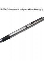 NLMP-020 Silver Metal Ballpen w/ Rubber Grip
