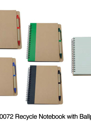 PS0072 Recycle Notebook with Ballpen (Featured)