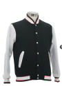 SJ154BKW (Black Red, White) Varsity Jacket